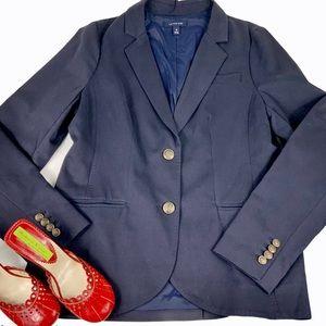 LAND'S END Navy Blue Blazer/Jacket SZ 10